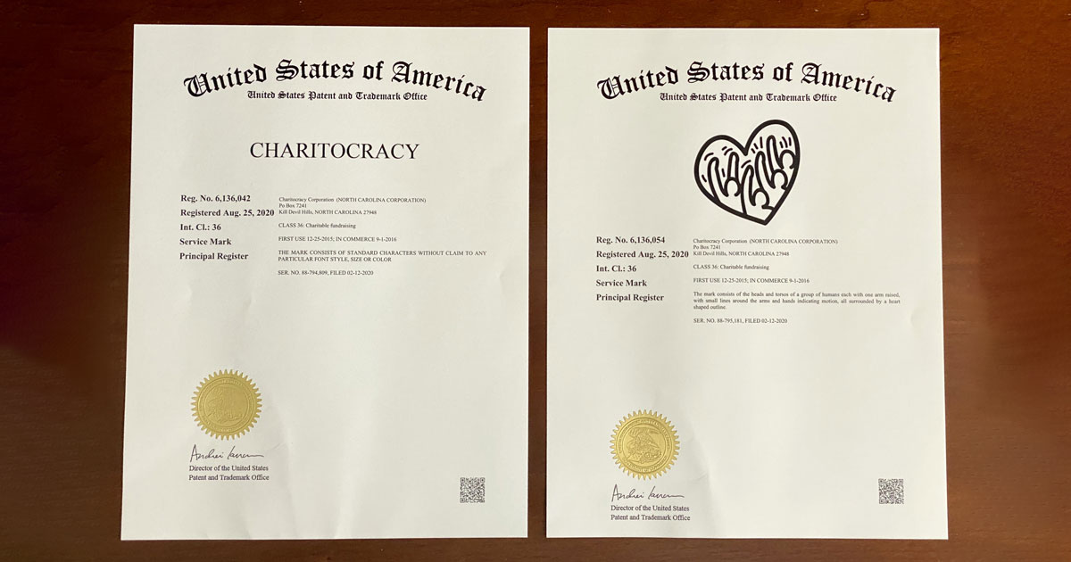 Charitocracy's registered trademarks